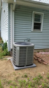 Air conditioner replaced with new furnace.